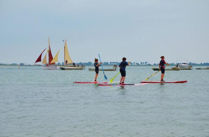 Balade en paddle dans la baie de Loix en Ré