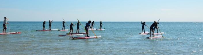 Séance junior de paddle.