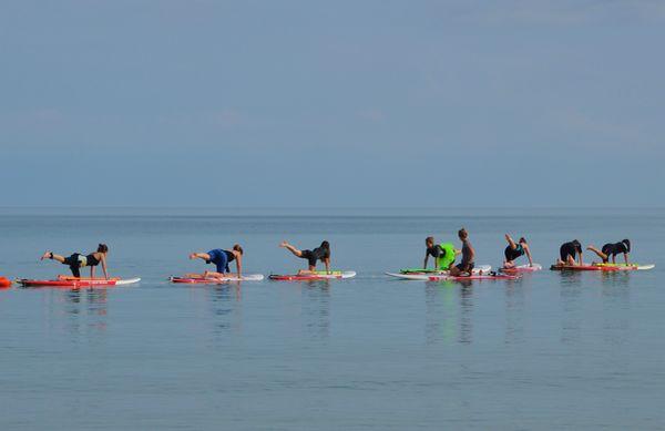 Stage de fitness en stand-up paddle à l'école Sup Evasion