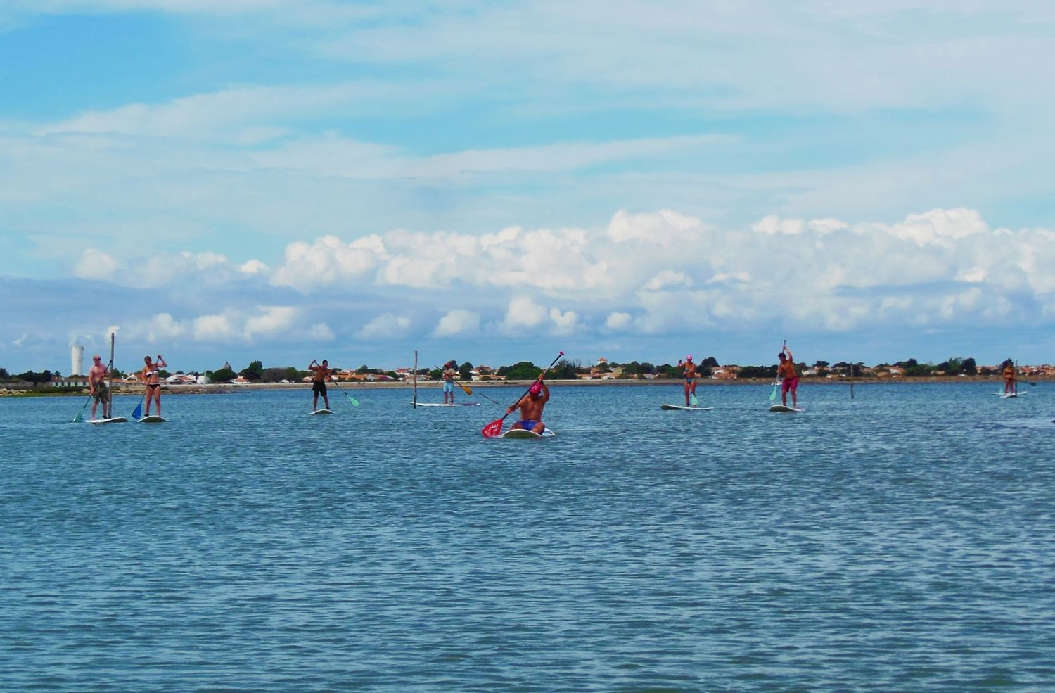 Stand up paddle dans la fosse de Loix.